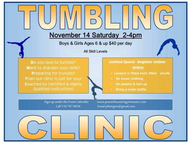 Tumbling clinic nov 14 2020