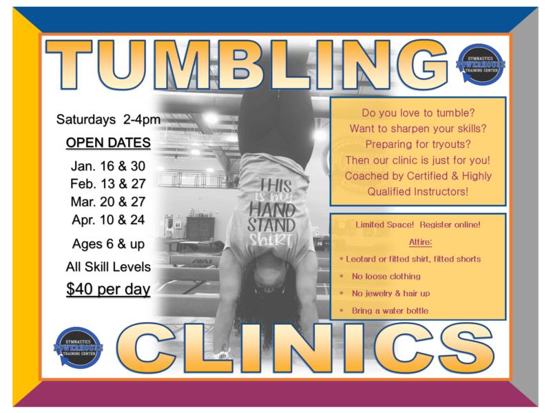 Tumbling clinics 2021