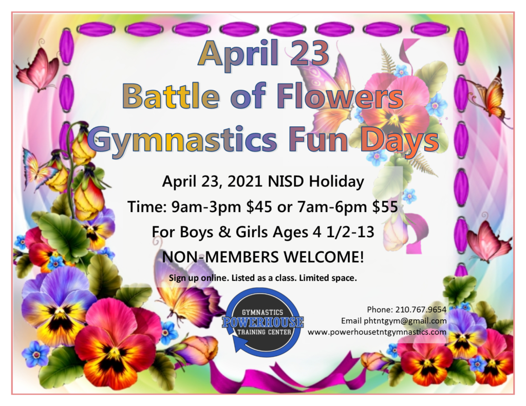April 23 Battle of Flowers Day Camp