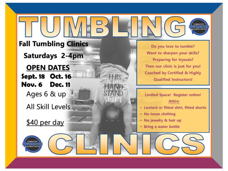 Fall Tumbling clinics 2021